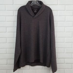 Van Heusen Cotton Shawl Collar Pullover Sweater